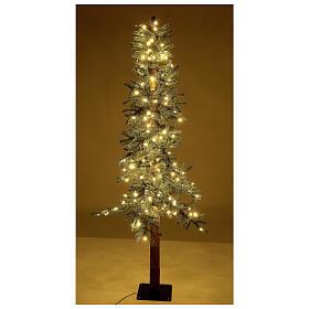 STOCK Albero Natale 120 cm abete stretto Slim Forest 100 led esterno s4