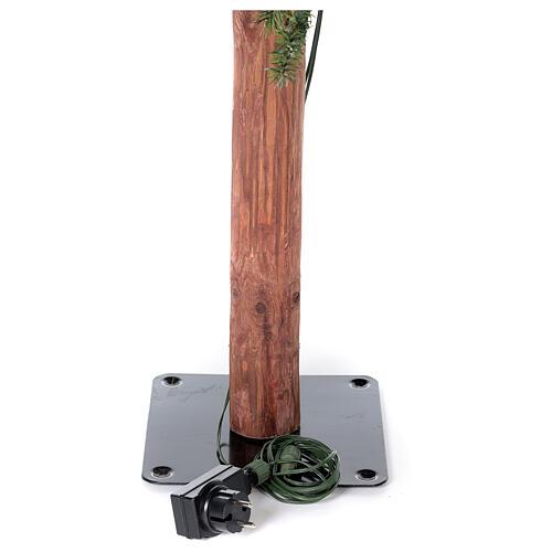 STOCK Albero Natale 120 cm abete stretto Slim Forest 100 led esterno 5
