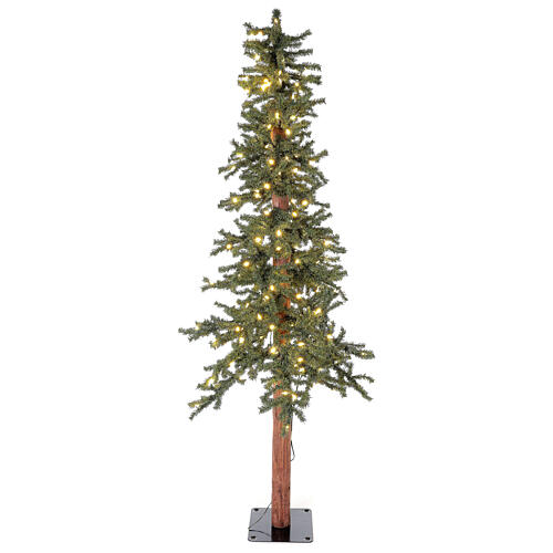 STOCK Albero Natale 120 cm abete stretto Slim Forest 100 led esterno 1