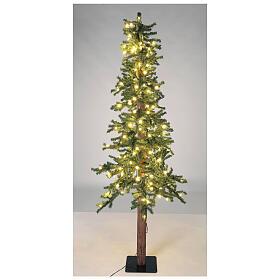 STOCK Albero Natale 210 cm abete Slim Forest 300 luci led caldi esterno s3