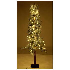STOCK Albero Natale 210 cm abete Slim Forest 300 luci led caldi esterno s4