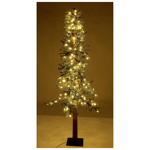 STOCK Albero Natale 210 cm abete Slim Forest 300 luci led caldi esterno 4