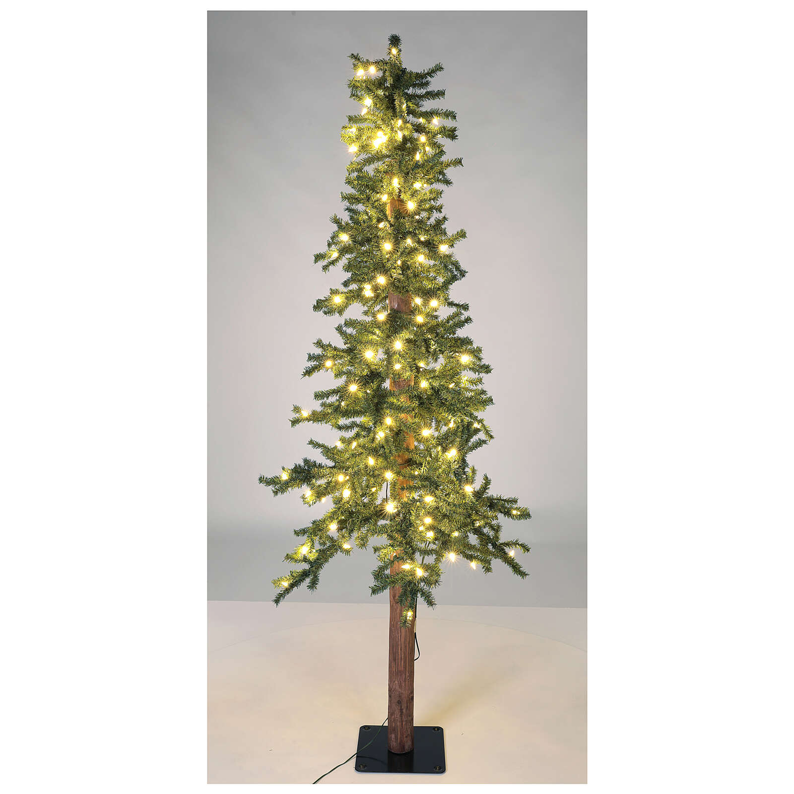 STOCK Slim Forest Christmas tree 210 cm 300 warm white LEDs outdoor 3