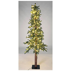 STOCK Slim Forest Christmas tree 210 cm 300 warm white LEDs outdoor s3