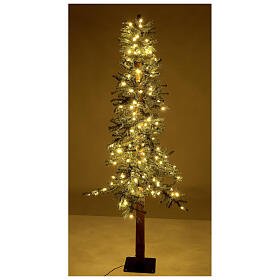 STOCK Slim Forest Christmas tree 210 cm 300 warm white LEDs outdoor s4