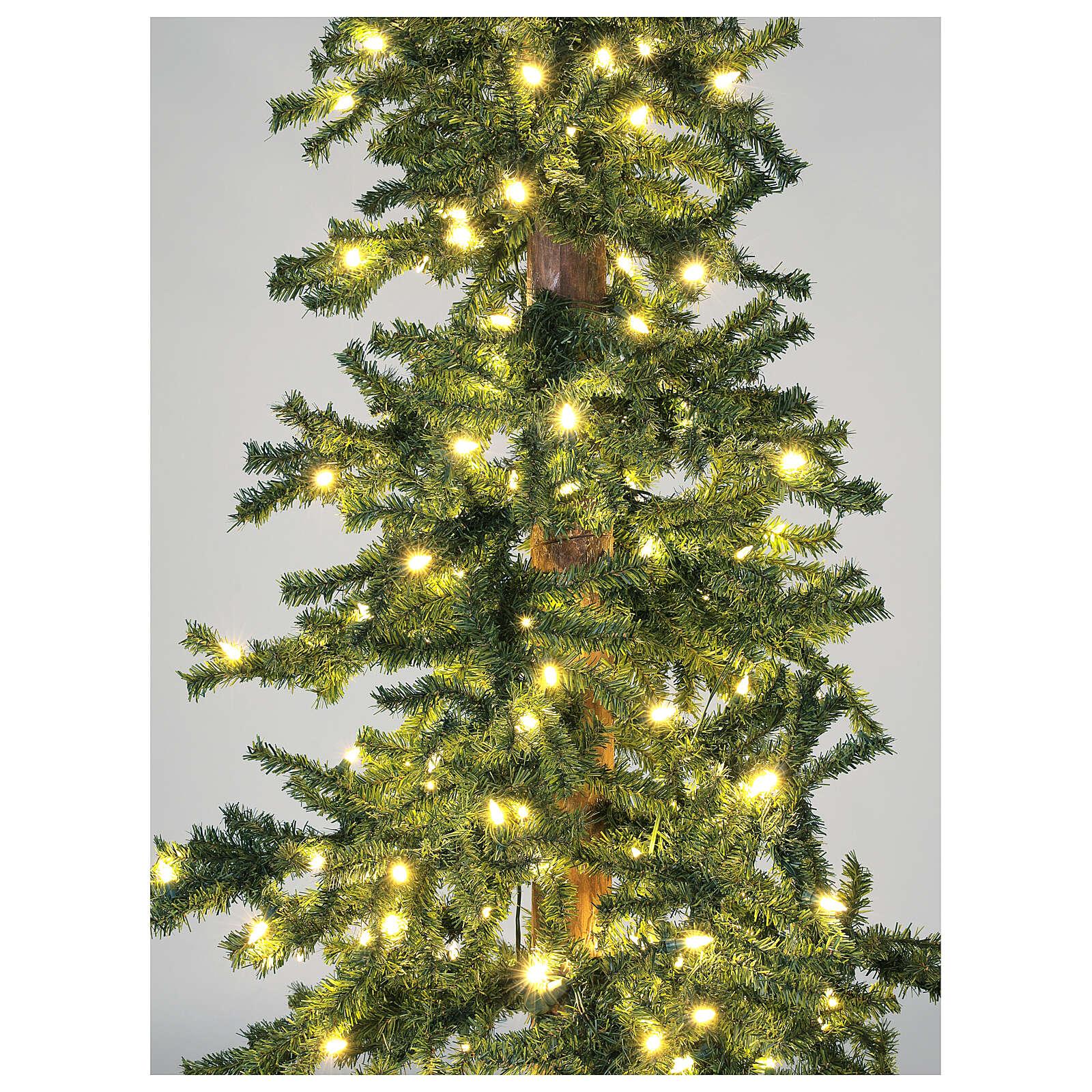 Albero Di Natale 300 Cm.Albero Di Natale 300 Cm Slim Forest 600 Led Caldi Esterno Vendita Online Su Holyart