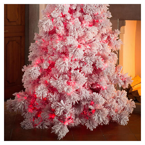 STOCK Sapin de Noël 340 cm enneigé Red Velvet 1050 LED 2