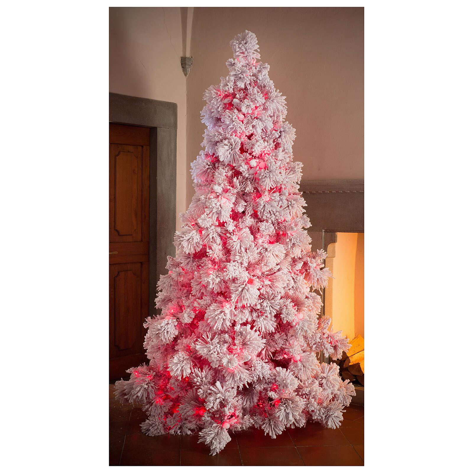 STOCK Albero di Natale 340 cm innevato Red Velvet 1050 led 3
