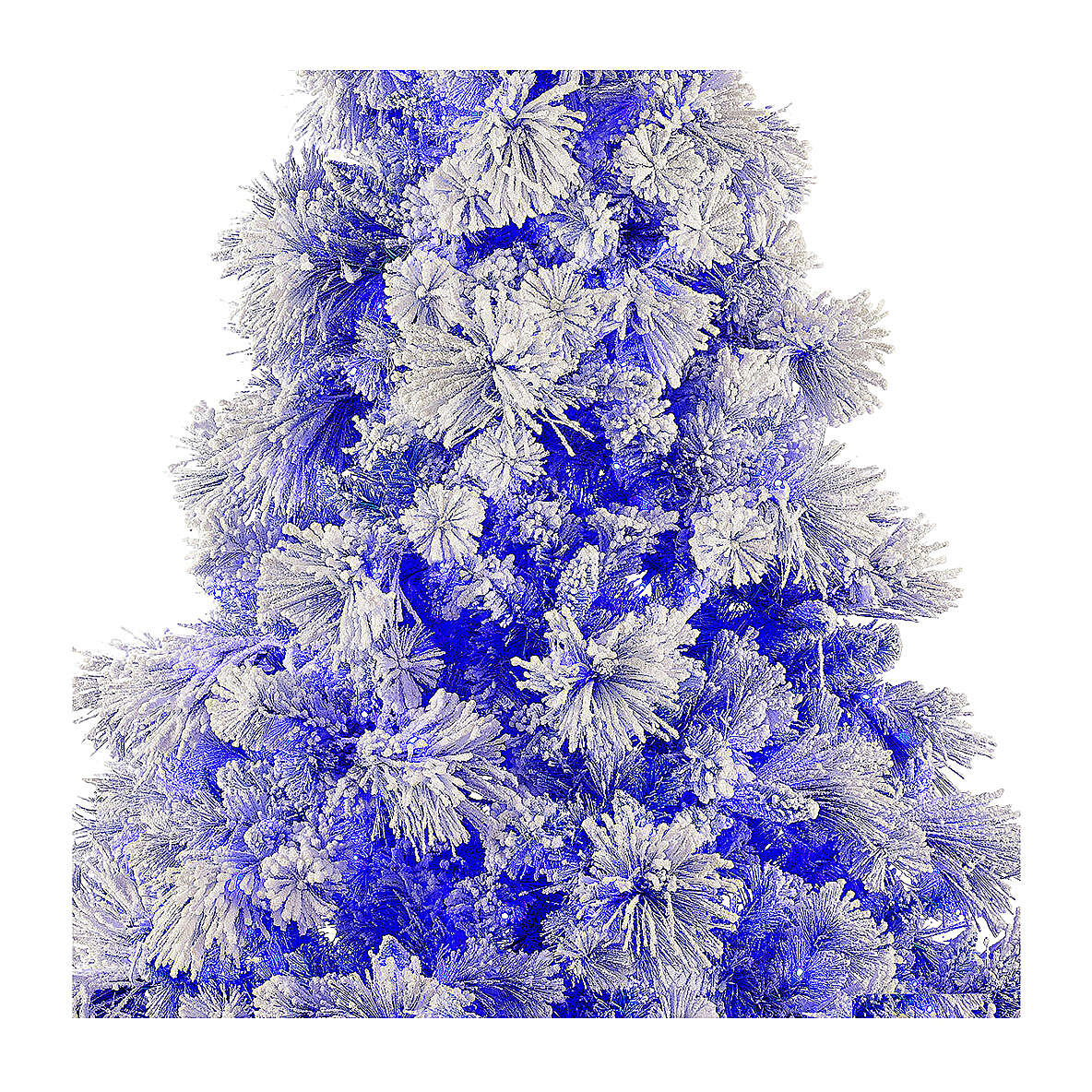 STOCK Albero di Natale 200 cm Virginia Blue innevato 250 led interno 3