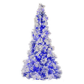 STOCK Albero di Natale 200 cm Virginia Blue innevato 250 led interno s1