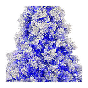 STOCK Albero di Natale 200 cm Virginia Blue innevato 250 led interno s2