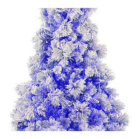 STOCK Sapin de Noël Virginia Blue 230 cm enneigé 400 LED intérieur s2