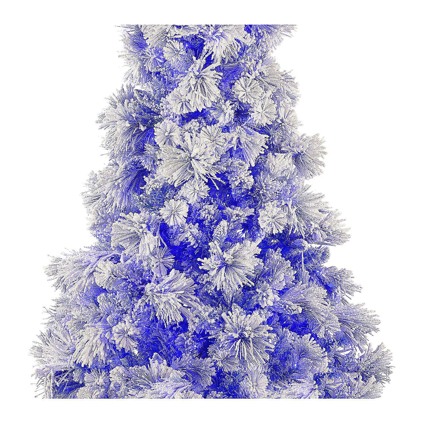 STOCK Albero di Natale Virginia Blue 230 cm innevato 400 led interno 3
