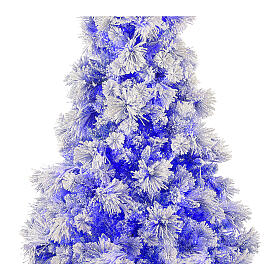 STOCK Albero di Natale Virginia Blue 230 cm innevato 400 led interno s2