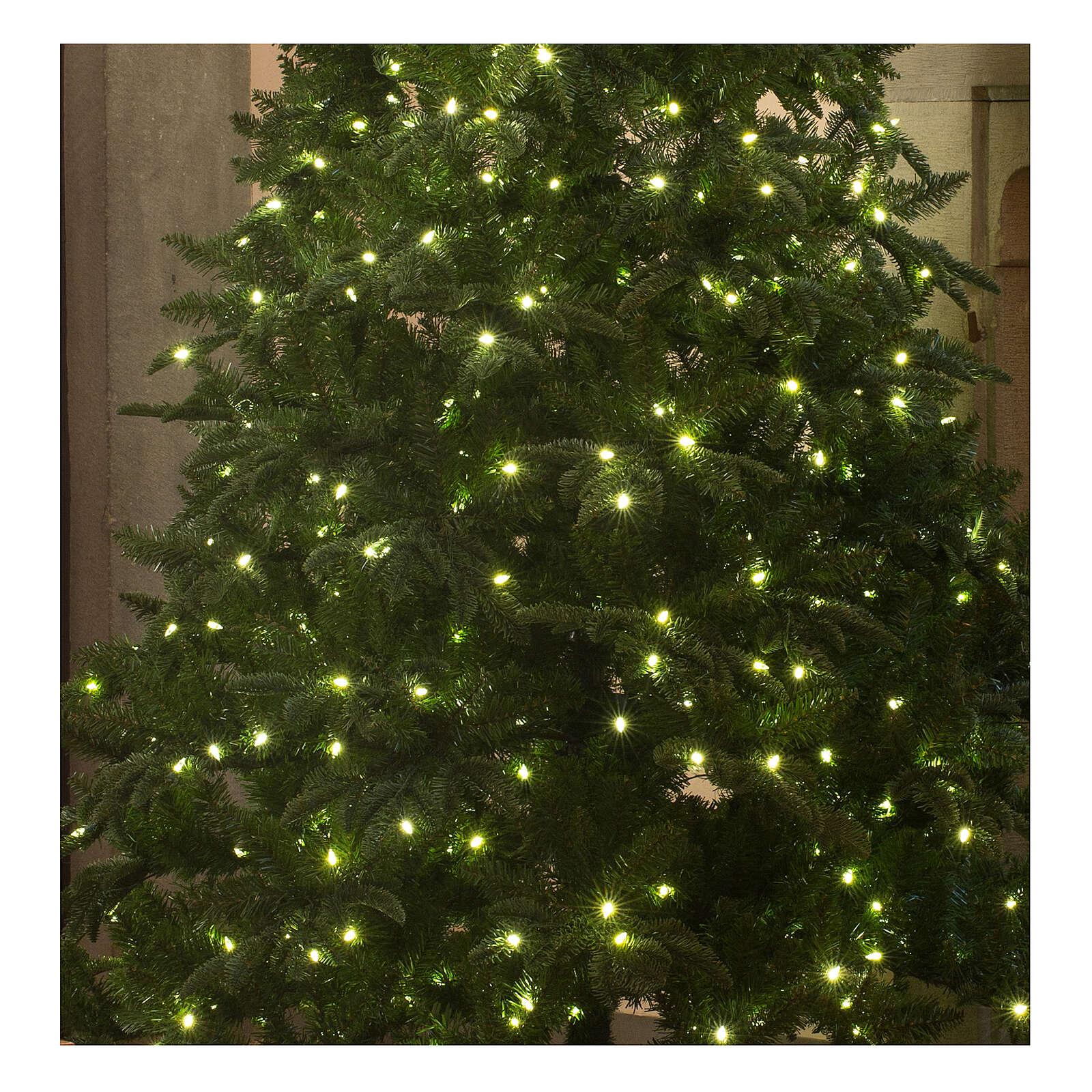 STOCK Albero Natale verde Hunter Green 340 cm con 1700 led caldi 3