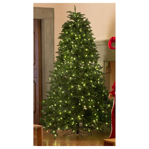 STOCK Hunter Green Christmas tree 340 cm with 1700 warm white LEDs 1