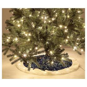 Copribase albero led bianco caldo paillettes blu 1 m s3