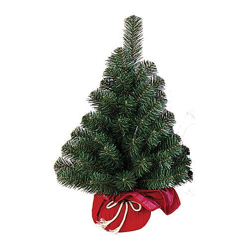 Árvore de Natal pequena 90 cm iluminada Noble Spruce Tree Slim base vermelha 1