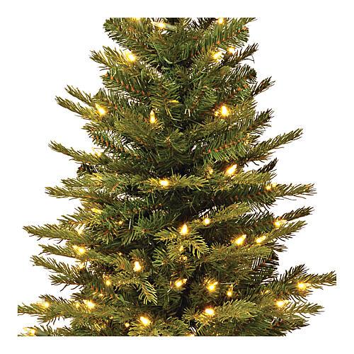 Alberello di Natale 60 cm luci e juta Noble Spruce Slim 2
