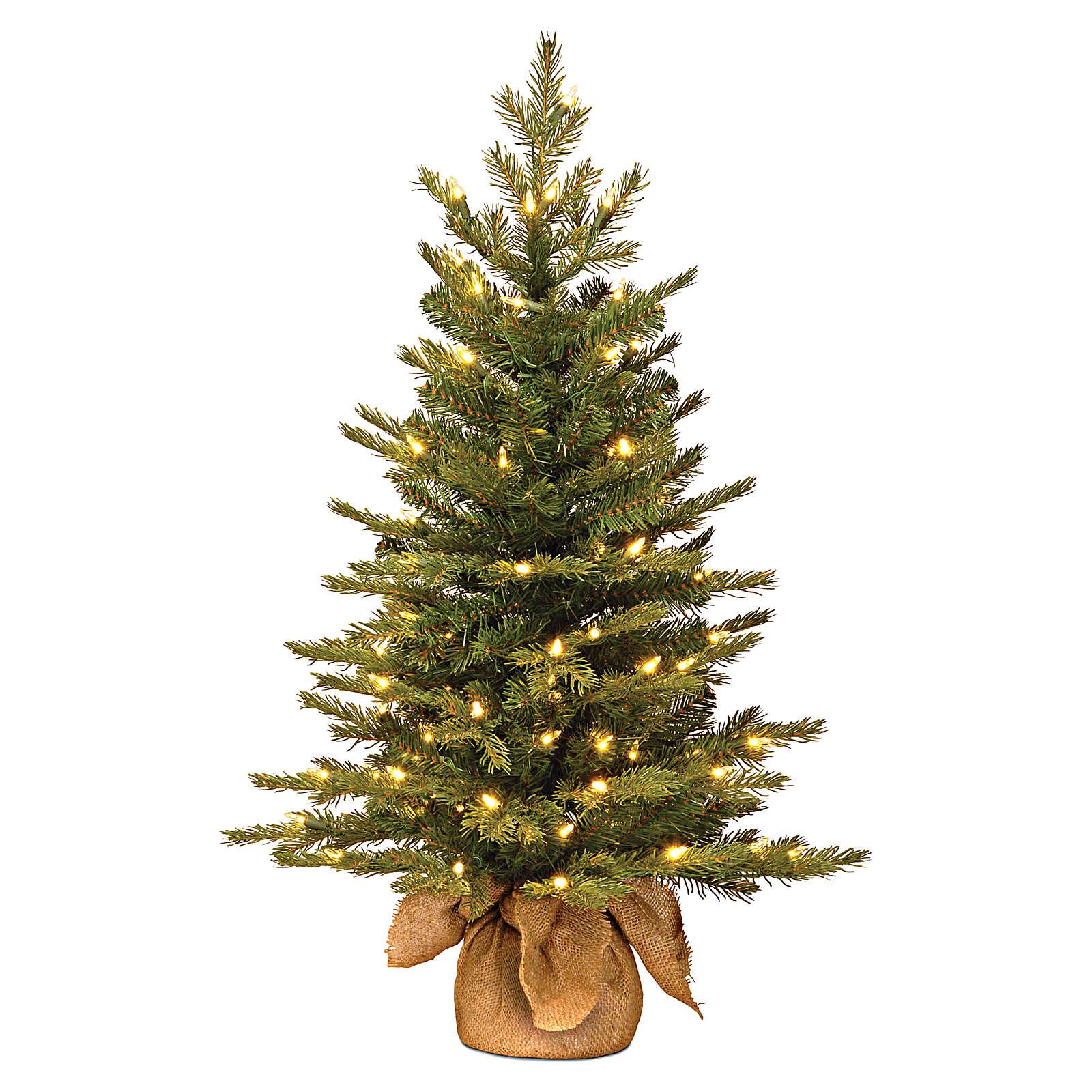 Árvore de Natal 90 cm com juta modelo Noble Spruce Slim 3