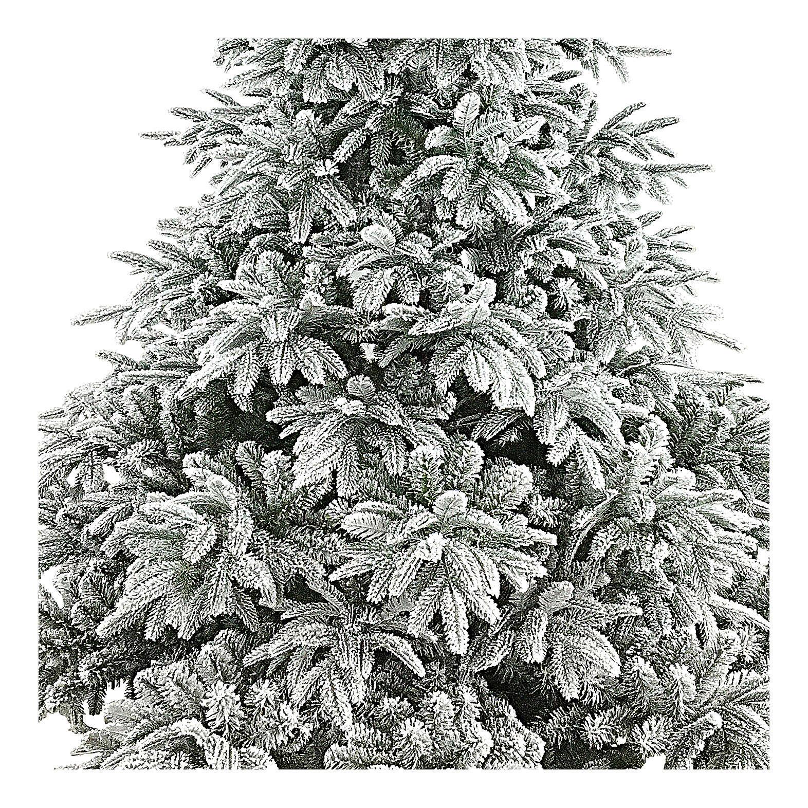 Árbol de Navidad 210 cm flocado poly Andorra Frosted 3