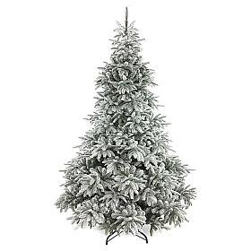 Árbol de Navidad 210 cm flocado poly Andorra Frosted s1