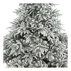 Árbol de Navidad 210 cm flocado poly Andorra Frosted s2