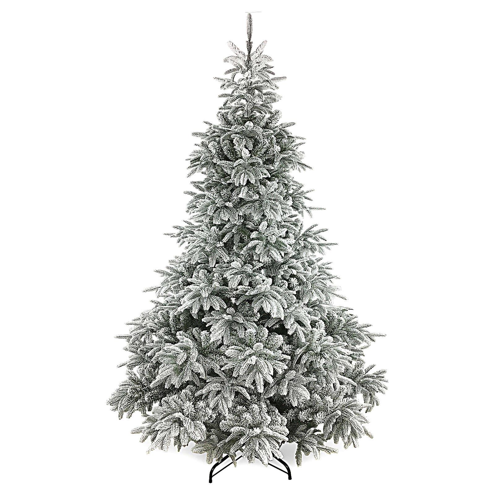 Albero di Natale 210 cm floccato poly Andorra Frosted 3