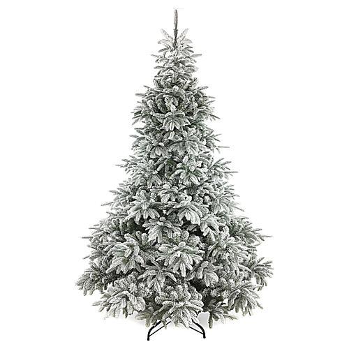 Albero di Natale 210 cm floccato poly Andorra Frosted 1