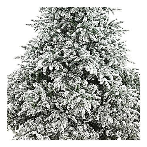 Albero di Natale 210 cm floccato poly Andorra Frosted 2