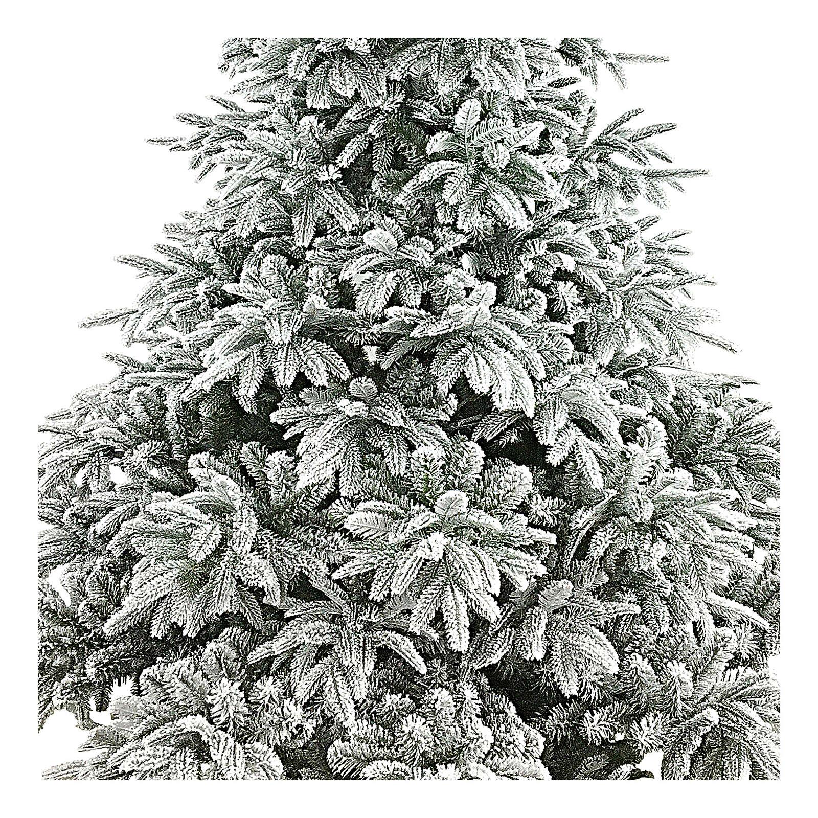 Albero di Natale 240 cm poly floccato Andorra Frosted 3