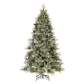 Albero di Natale 210 cm pigne poly Frosted Mountain Spruce s1