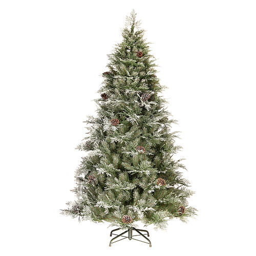 Albero di Natale 210 cm pigne poly Frosted Mountain Spruce 1
