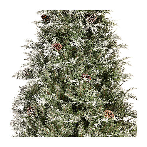 Albero di Natale 210 cm pigne poly Frosted Mountain Spruce 2