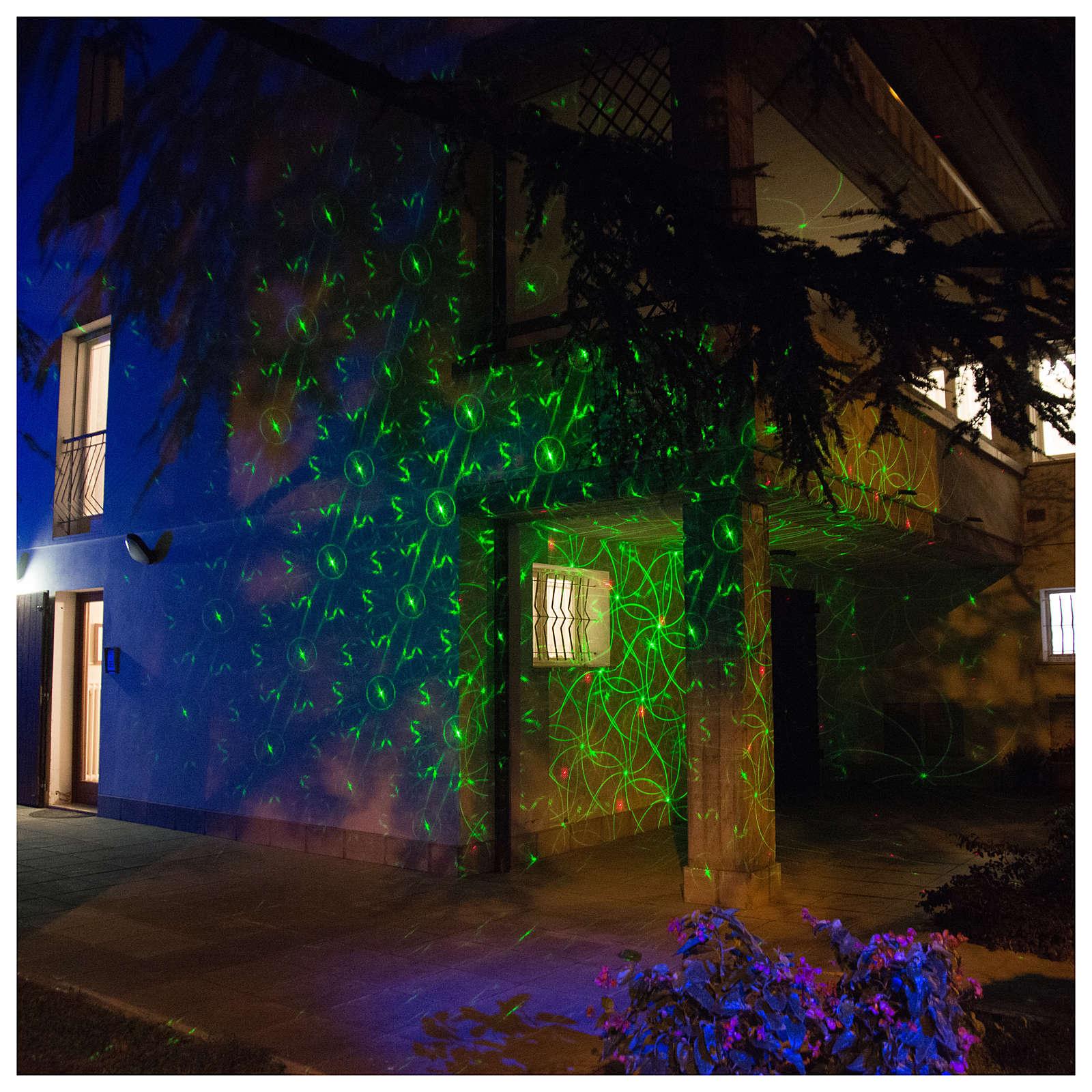 Laser-Projektor rot/grüne Punkte in Bewegung für innen und außen 3