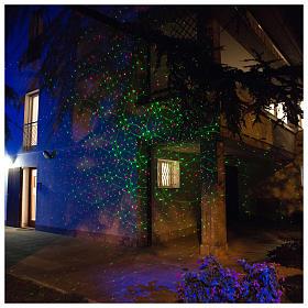 Laser-Projektor rot/grüne Punkte in Bewegung für innen und außen s1