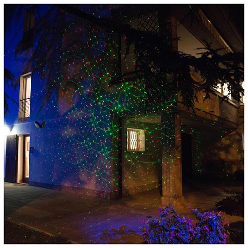 Laser-Projektor rot/grüne Punkte in Bewegung für innen und außen 1