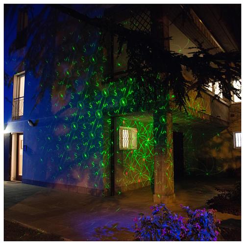 Projetor laser pontos movimento vermelho verde interior exterior 6