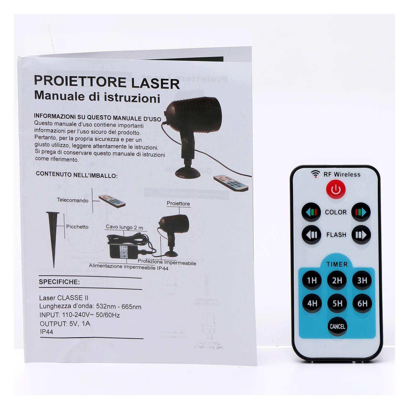Projektor laserowy zewnętrzny i do wnętrz Czujnik Zmierzchu Kropki  3