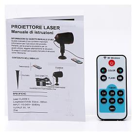 Projetor laser sensor crepuscular pontos interior exterior s9