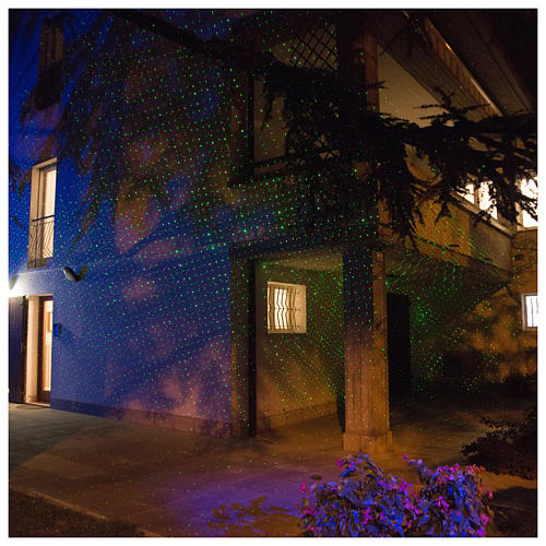 Projetor laser sensor crepuscular pontos interior exterior 7