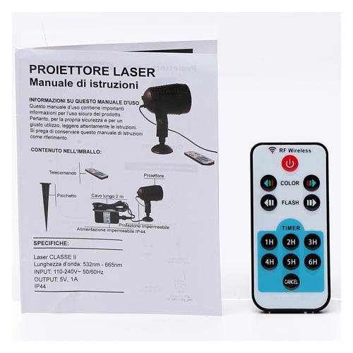 Projetor laser sensor crepuscular pontos interior exterior 9