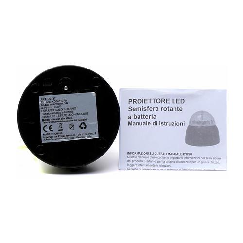 Proyector 6 LED multicolor semiesfera rotatoria con batería para interior 4