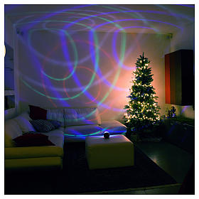 Projector 6 multicoloured leds rotating half-sphere with batteries s1