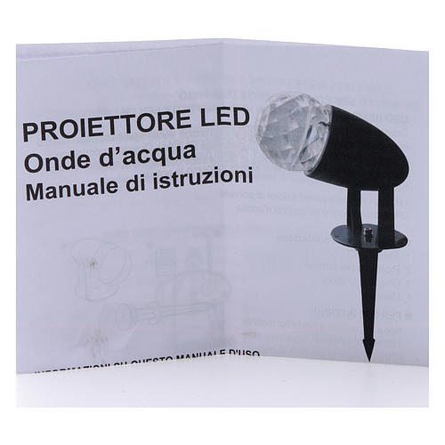 Projector 3led water waves multicoloured internal and external use 7
