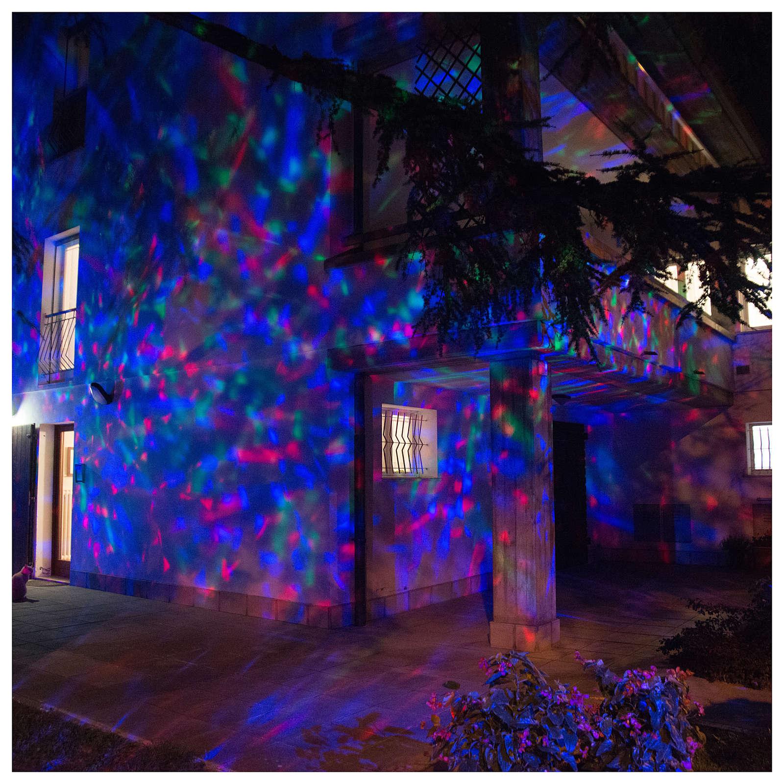 Proyector 3 luces LED olas efecto agua multicolor interior y exterior 3