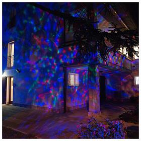 Proyector 3 luces LED olas efecto agua multicolor interior y exterior s4
