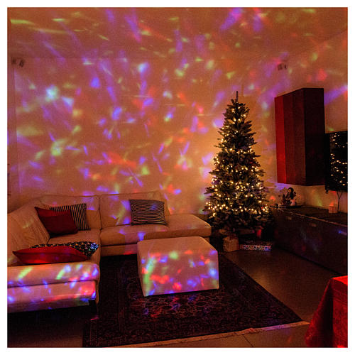 Proyector 3 luces LED olas efecto agua multicolor interior y exterior 2