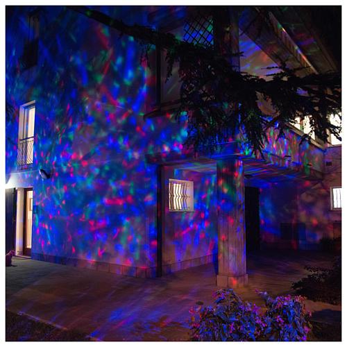 Proyector 3 luces LED olas efecto agua multicolor interior y exterior 5