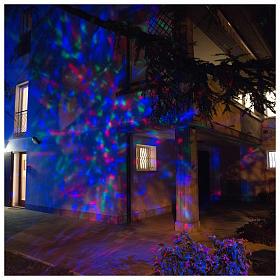 Projetor 3 Leds ondas de água multicolores interior exterior s1